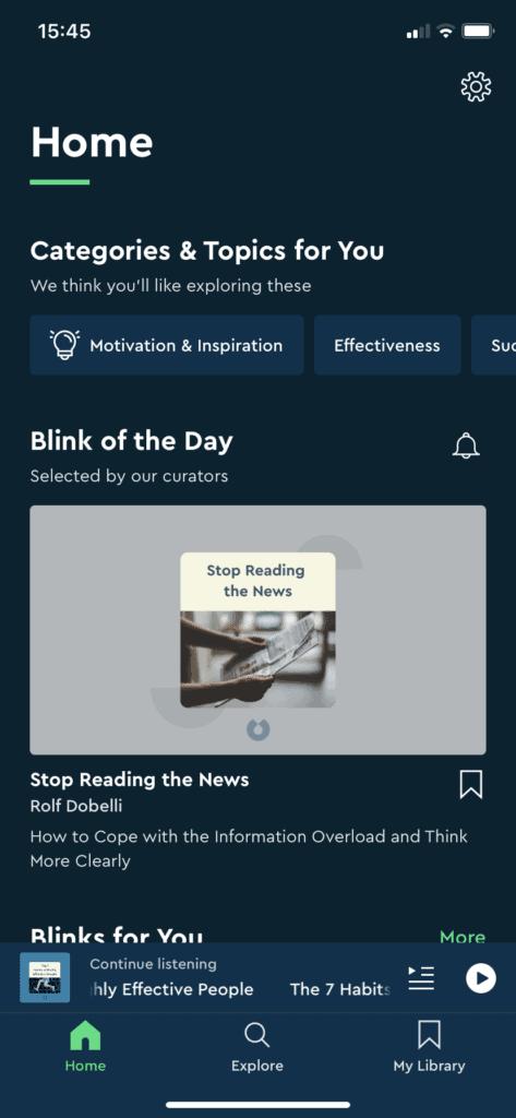 Blinkist iPhone App