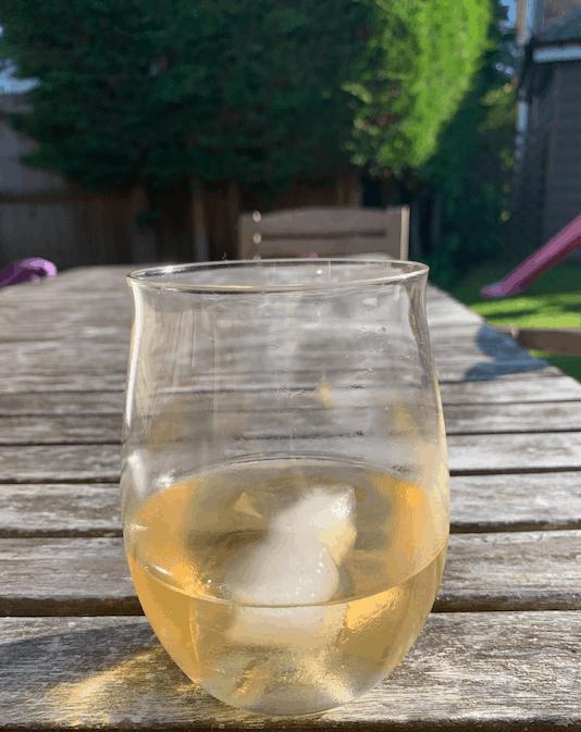Drinking Jukes Cordialities in my garden