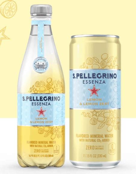 San Pellegrino Essenza Lemon and Lemon Zest